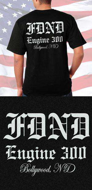 Screen Print Design FDND Old English Back DesignFire Department Clothing