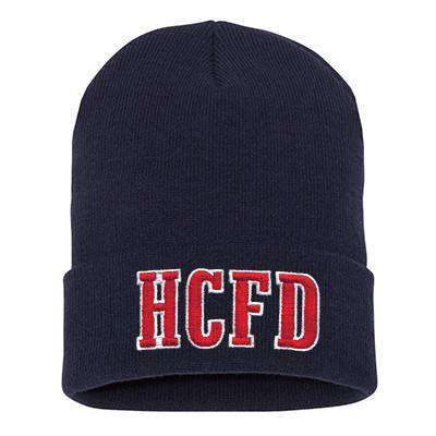 Hat Fire Department Block Letter Winter Hat - EMBFire Department Clothing