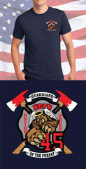 Screen Print Design California Forest Firefighters Maltese CrossFire Department Clothing