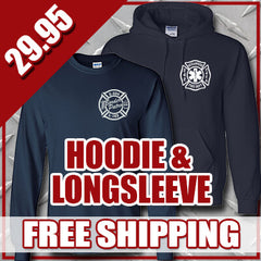 Winter Special - Personal Hooded Sweatshirt & Longsleeve T-shirt - G125 & G240Fire Department Clothing