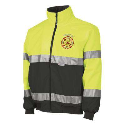 Jacket Embroidered Signal Hi-Vis Jacket with Scramble Maltese - Charles River - Style 9732Fire Department Clothing