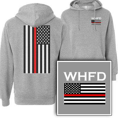 Printed Red Stripe Flag Sweatshirt - SS4500 - DTG