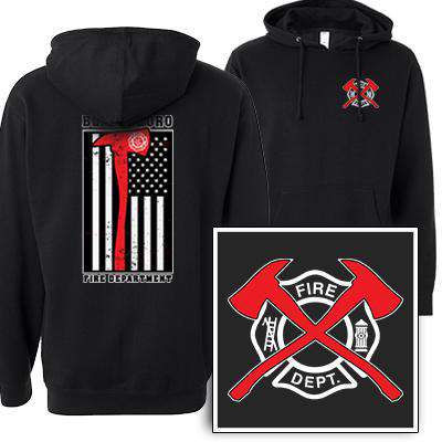 Printed Red Striped Axe Flag Sweatshirt - SS4500 - DTG