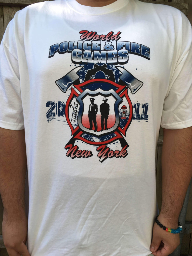 World Police & Fire Games Printed ShirtFire Department Clothing