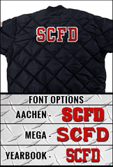 "Customization 4"" Sewn-On Tackle Twill Solid Letters for Upper BackFire Department Clothing"