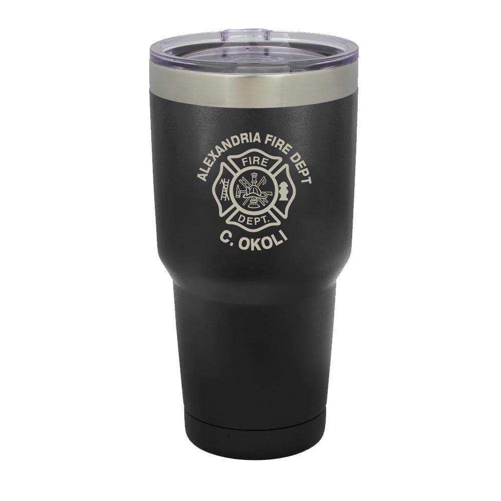 Custom Firefighter Polar Camel Vacuum Insulated Tumbler with Maltese Cross - LTM938 - LZRFire Department Clothing
