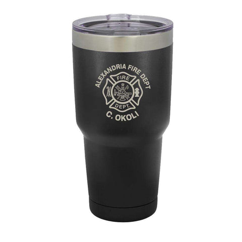 Custom Firefighter Polar Camel Vacuum Insulated Tumbler with Maltese Cross - LTM938 - LZR