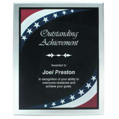 Firefighter or Police Award Plaque  Stars and Stripes Plaque - LZR - BDR8SS