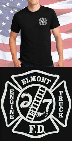Screen Print Design Elmont Fire Department Maltese CrossFire Department Clothing