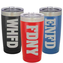 Custom 20oz Polar Camel Vacuum Tumbler with Department - LTM924 - LZRFire Department Clothing
