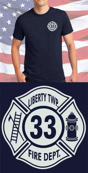 Screen Print Design Liberty Twp. Maltese CrossFire Department Clothing