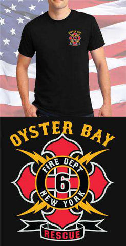 Screen Print Design Oyster Bay Fire Department Maltese CrossFire Department Clothing