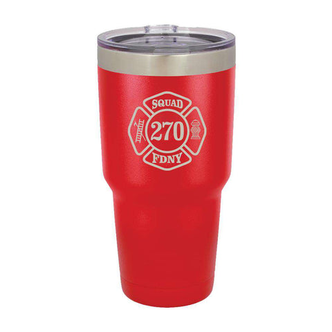 Custom Firefighter Polar Camel Vacuum Insulated Tumbler with Company - LTM938 - LZRFire Department Clothing