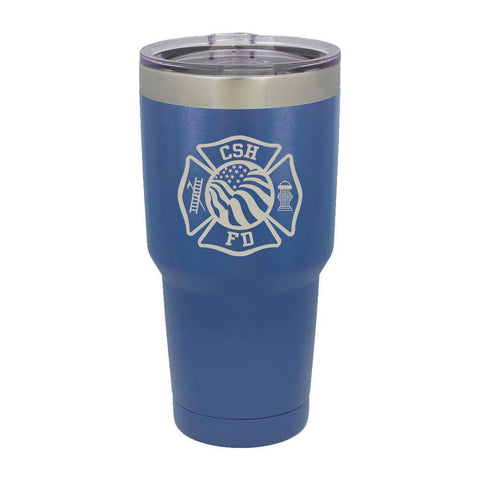 Custom Firefighter Polar Camel Vacuum Insulated Tumbler with Flag - LTM938 - LZR