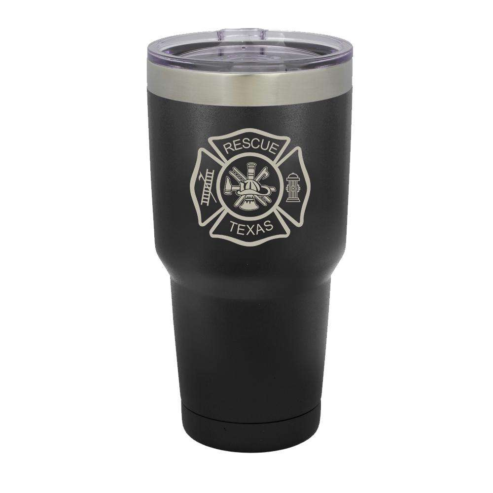 Custom Firefighter Polar Camel Vacuum Insulated Tumbler with Full Maltese Cross - LTM938 - LZRFire Department Clothing