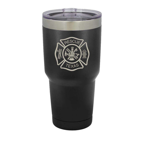 Custom Firefighter Polar Camel Vacuum Insulated Tumbler with Full Maltese Cross - LTM938 - LZR