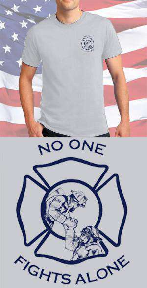 Screen Print Design No One Fights Alone Maltese CrossFire Department Clothing