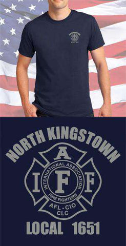 Screen Print Design North Kingston Fire Department Maltese CrossFire Department Clothing