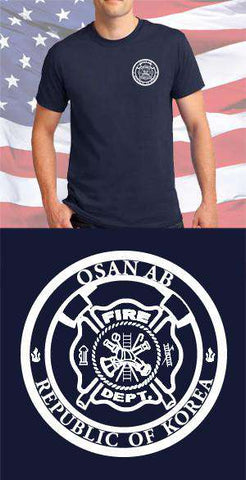 Screen Print Design Osan AFB Fire Department Maltese CrossFire Department Clothing