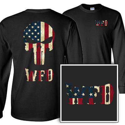 Customization Custom Old Faithful Skull Longsleeve Shirt - Gildan G240 - DTGFire Department Clothing
