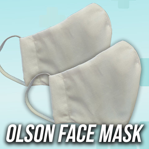 Cloth Face Mask 2 Pack - Olson - Made in USA - 100% CottonFire Department Clothing