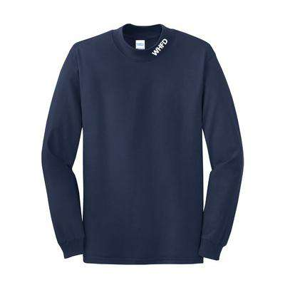 Long-Sleeve Mock Turtleneck with Fire Department Initials - PC61M