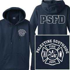 Cad-Cut Garment Printed Maltese Cross Hooded Sweatshirt - Gildan - Style 12500 - CADFire Department Clothing