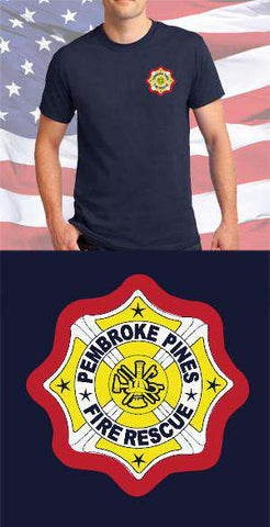 Screen Print Design Pembroke Pines Fire Department Maltese CrossFire Department Clothing