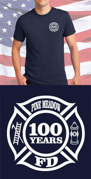 Screen Print Design Pine Meadow Fire Department Maltese CrossFire Department Clothing