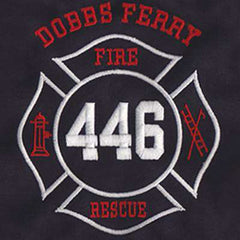 Customization Pointed Maltese with Text AboveFire Department Clothing