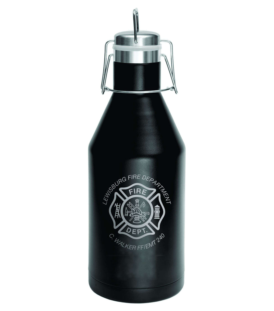 Firefighter Growler Polar Camel Vacuum Insulated with Swing Top Lid - Laser Engraved - LGR642Fire Department Clothing