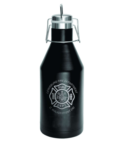 Firefighter Growler Polar Camel Vacuum Insulated with Swing Top Lid - Laser Engraved - LGR642
