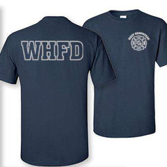 Cad-Cut Garment Custom Reflective Firefighter Design - Gildan 200 - CADFire Department Clothing