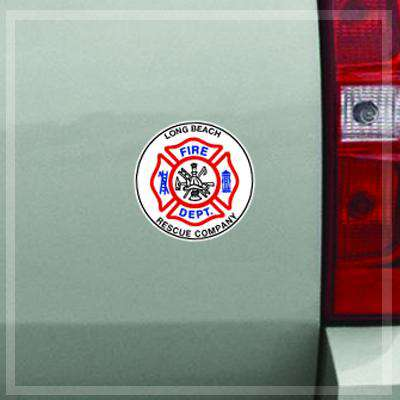 Custom Fire Department Maltese Decal Sticker Set of 3 - DIG