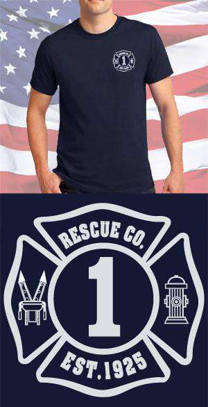 Screen Print Design Jaws of Life Maltese CrossFire Department Clothing