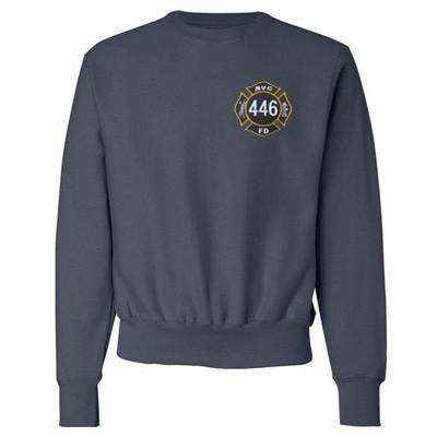 Fire Department Clothing Crewneck Sweatshirts with Custom Maltese or EMS Cross Logo