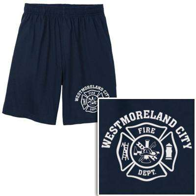 Cad-Cut Garment Printed Cotton/Poly Maltese Cross Shorts - Sport-Tek - Style ST310Fire Department Clothing