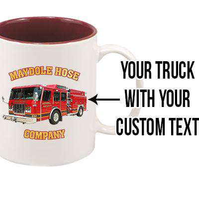 Customizable Firetruck Mug - SM11 - SUBFire Department Clothing