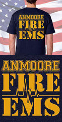 Screen Print Design Anmoore Fire Department & EMS Back DesignFire Department Clothing