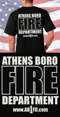 Screen Print Design Athensboro Fire Department Back DesignFire Department Clothing