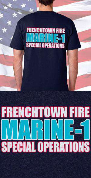 Screen Print Design Frenchtown Fire Department Special Operations Back DesignFire Department Clothing