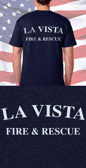 Screen Print Design La Vista Fire Rescue Back DesignFire Department Clothing