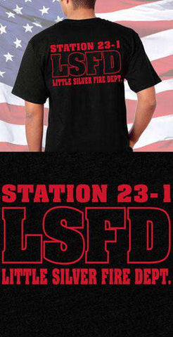 Screen Print Design Little Silver Fire Department Back DesignFire Department Clothing