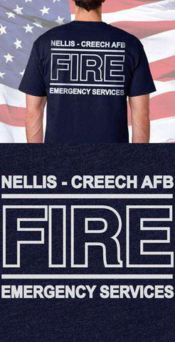 Screen Print Design Nellis Creech Fire Services Back DesignFire Department Clothing