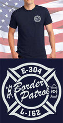 Screen Print Design Border Patrol Maltese CrossFire Department Clothing