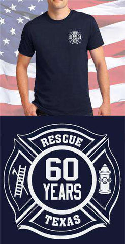 Screen Print Design Texas 60 Years Maltese CrossFire Department Clothing