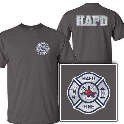 Customization Custom Printed Silver Foil Maltese Pattern T-Shirt - Gildan G200 - DIGFire Department Clothing