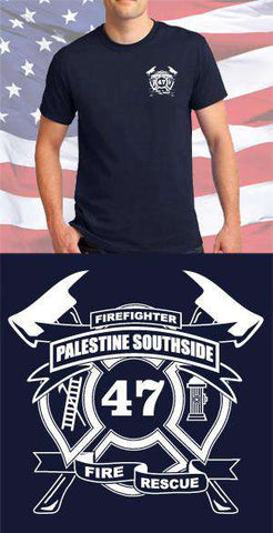 Screen Print Design Palestine Southside Fire Department Maltese CrossFire Department Clothing