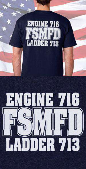 Screen Print Design FSMFD Back DesignFire Department Clothing