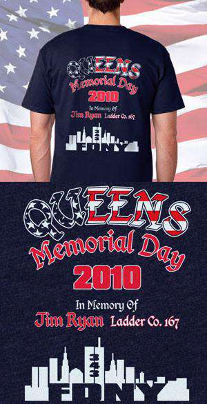 Screen Print Design Memorial Day Stars and Stripes Back DesignFire Department Clothing